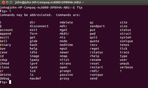 tutorial linux ftp linux ftp command exles