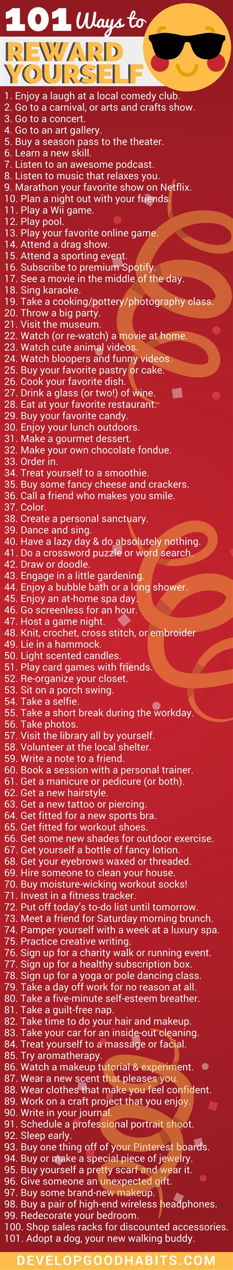 7 Ways To Reward Yourself For 10 by 155 Ways To Reward Yourself For Completing A Goal Or Task