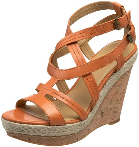 nine west sandal wedges nine west womens namiah wedge sandal in orange orange