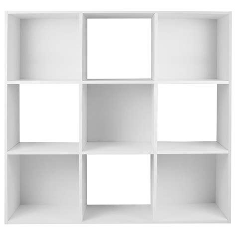 white box shelves hartleys white 9 cube modular square storage shelving 3 tier shelf display unit ebay