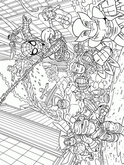 Best Superhero Squad Coloring Pages Superhero Coloring Pages Squad Coloring Page