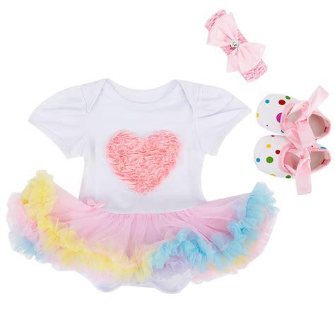 Set Shoes And Tutu Blackwhite1 For Baby 3 12 Bulan fashion baby 3pcs per set 1st birthday tutu dress