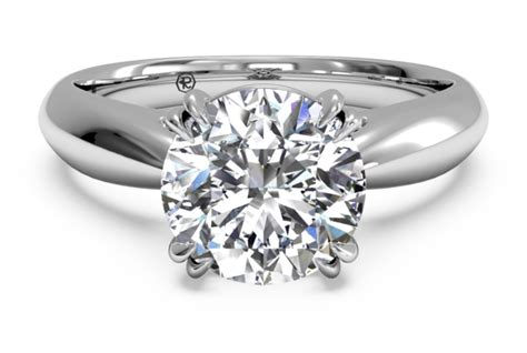 18kt white gold solitaire engagement ring engagement