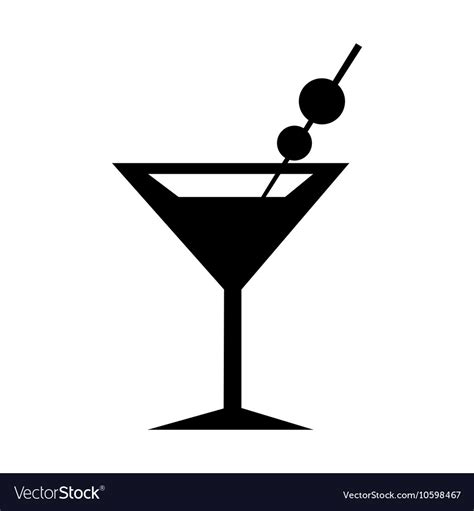 martini silhouette martini glass icon silhouette royalty free vector image