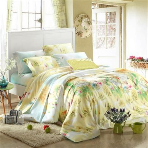 green and yellow comforter sets blue green and yellow rustic scene and vintage chic floral