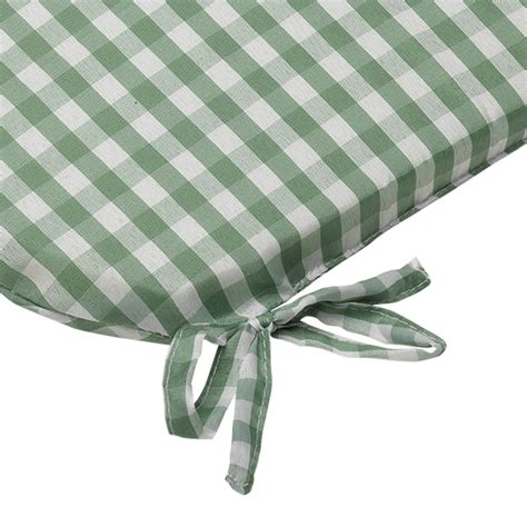 green kitchen chair cushions gingham check tie on seat pad 16 quot x 16 quot kitchen outdoor