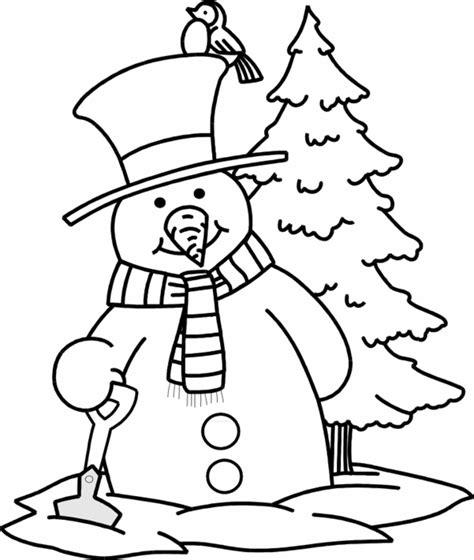 snowman scene coloring page dibujos navide 241 os para pintar solountip com