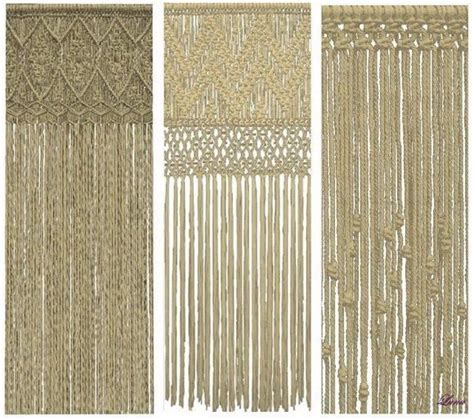 Hemp Curtain Panels From Doc by 17 Best Images About Tende Crochet On Crochet
