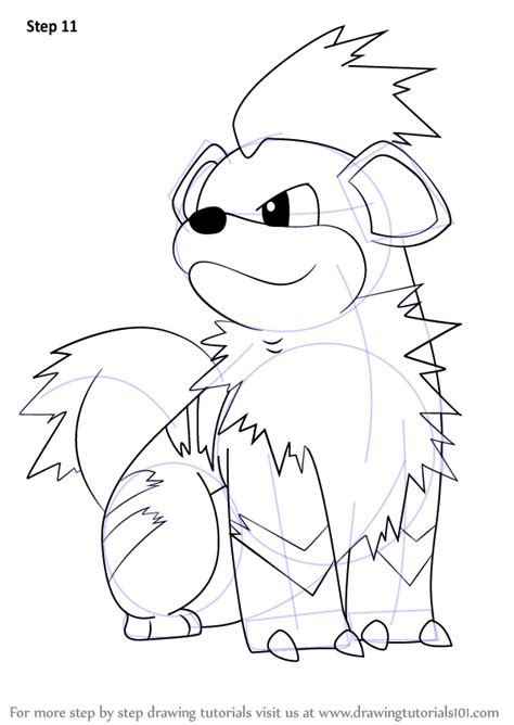 pokemon coloring pages growlithe learn how to draw growlithe from pokemon death note step