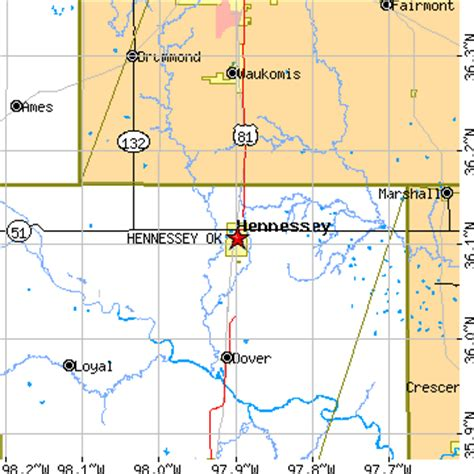 hennessey ok zip code hennessey oklahoma ok population data races housing