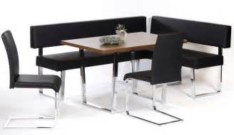 Corner Booth Dining Table Set Black Leather Corner Bench Breakfast Nook Dining Booth