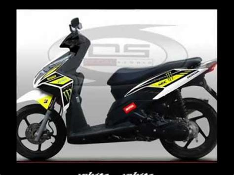striping honda vario techno monster energy youtube