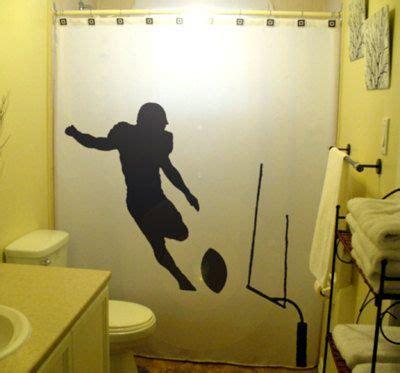 football shower curtain bathroom decor bath field