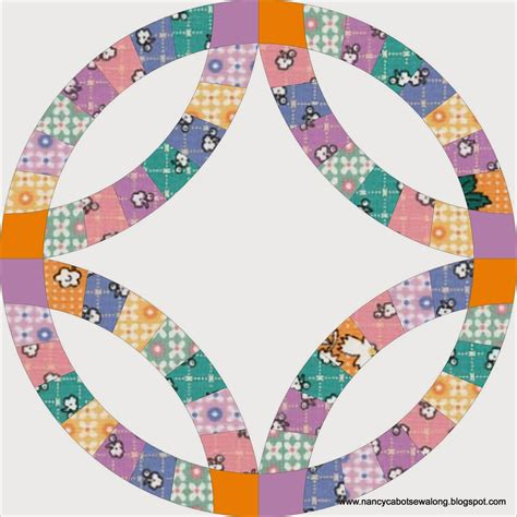 about nancy wedding ring quilt block