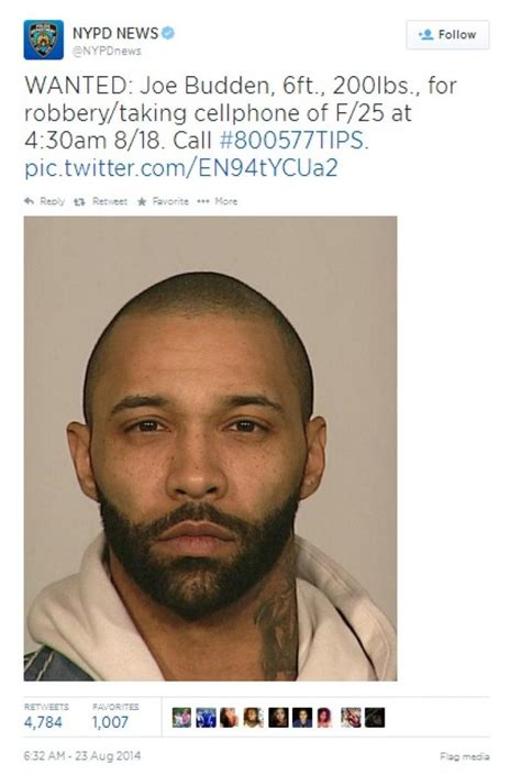 Lookup Mugshots Of Wanted The Nypd Tweets Mugshot In Search Of Joe Budden