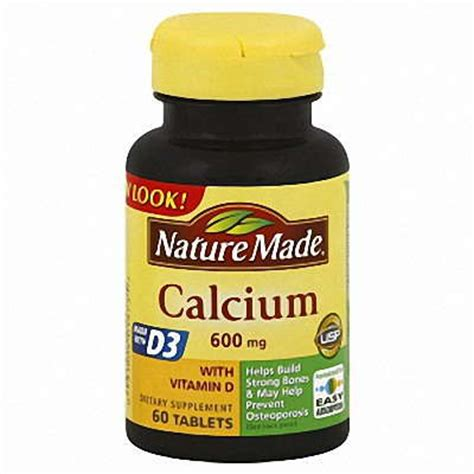 supplement with nature made calcium supplement with vitamin d 600mg