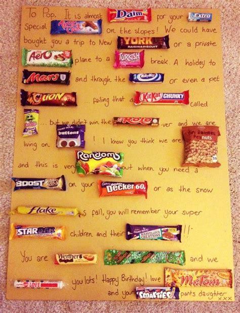 chocolate bar birthday card for my dad crafty