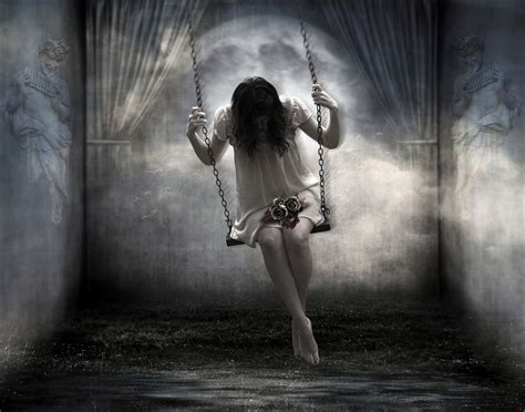 swing wallpaper on a swing in ghostly room wallpaper and background