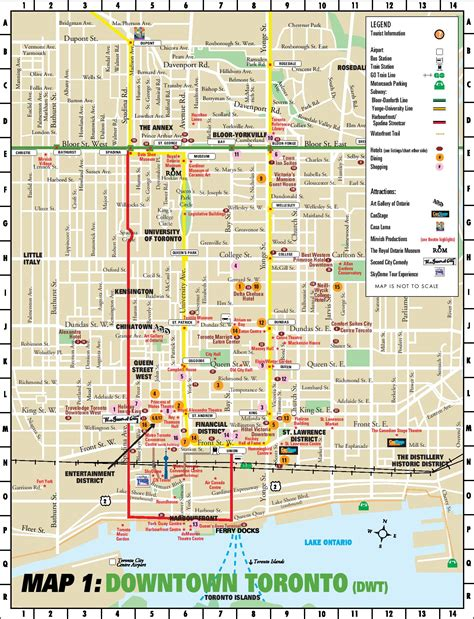 map directions toronto toronto downtown map