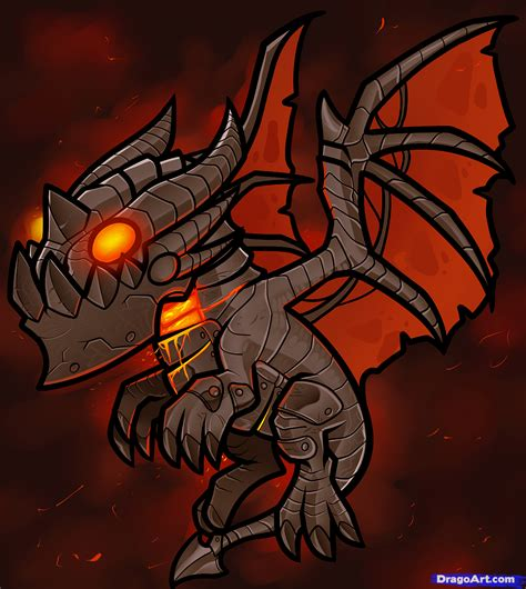 how to draw baby deathwing lil deathwing step by step