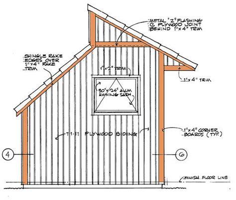 clerestory shed plans blueprints  storage shed