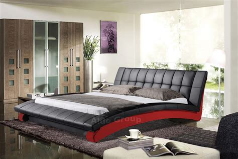 rishon king size modern design white leather platform bed ebay