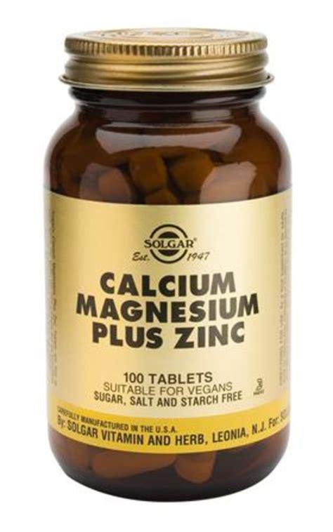 Nature S Plus Cal Mag Zinc 60s drogisttop solgar calcium magnesium plus zinc 100tab