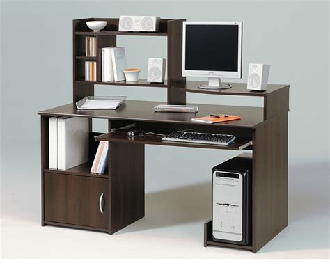 Tall Computer Desk With Storage Review And Photo Computer Desk With Shelves