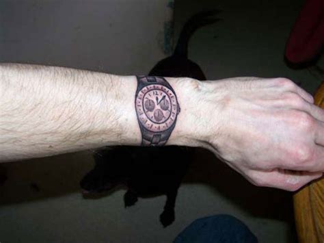 wrist watch tattoo 41 all around wrist tattoos