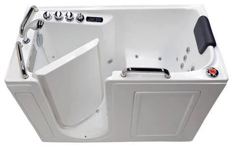 Walking Bathtub by Air Whirlpool Fully Loaded Walk In Bathtub White Tub