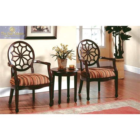 accent chairs with table kf93034 3 set with 2 accent chairs and 1 end table