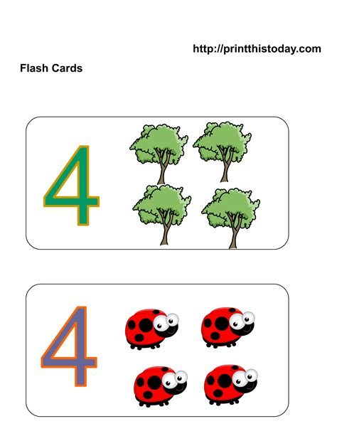 cute printable number cards free printable kindergarten math flashcards