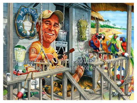 margaritaville cartoon jimmy buffett 2010 11x14 caricature picture poster art