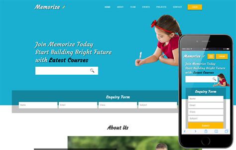 bootstrap templates for institute memorize an educational category bootstrap responsive web