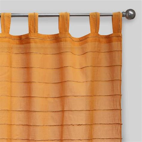 curtains with tabs at the top amber striped sahaj jute tab top curtains set of 2
