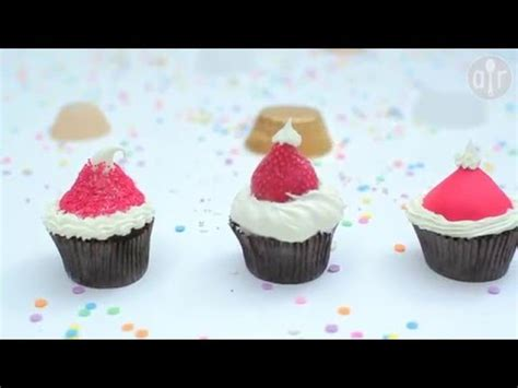 ways to decorate a santa hat how to decorate santa hat cupcakes 3 ways