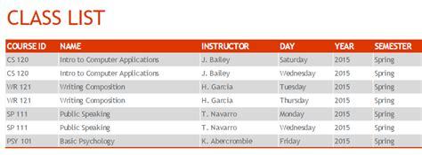 semester calendar template semester schedule template 187 template
