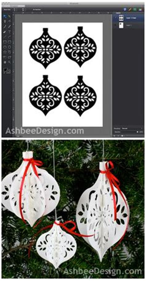 paper cut out ornaments diy paper ornament from ashbee design silhouette there