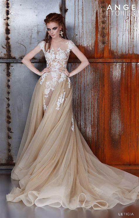 Brown Bridal by Wedding Dress Leticia Unique Wedding Gown Chagne