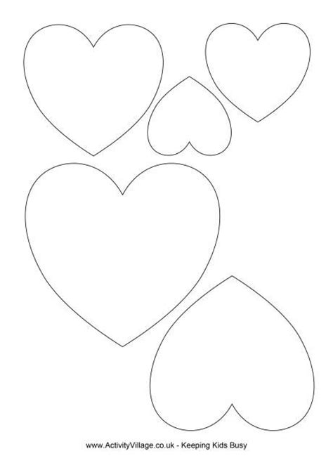 free printable valentine shapes the 25 best heart template ideas on pinterest printable