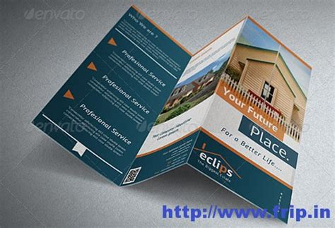 real estate tri fold brochure template 50 best real estate brochure print templates frip in