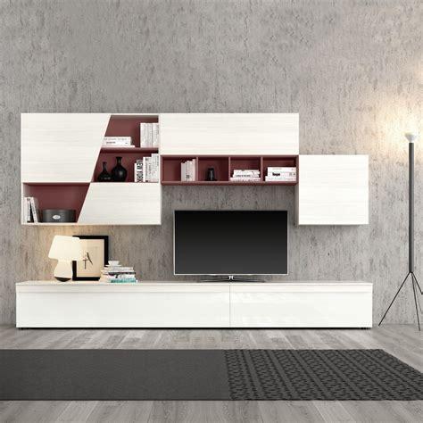 soggiorni colorati soggiorno smart larice bianco laccato bianco lucido e vani
