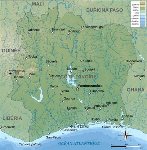 cote divoire liportal 187 cote d ivoire 187 landes 252 bersicht naturraum