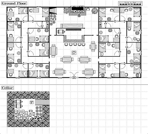 inn floor plans maelstrom caigns inns and taverns floorplans