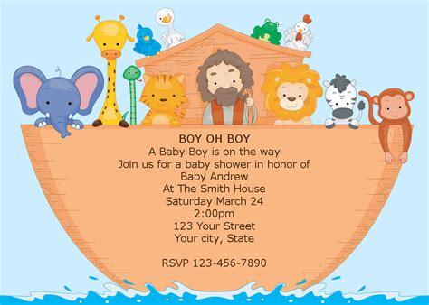 boy noah s ark printable baby shower invitations diy