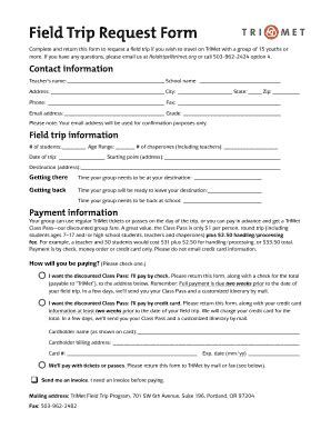 field trip forms printable fill online printable