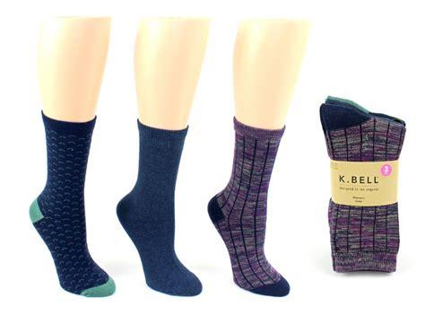 cheap patterned socks wholesale women s designer crew socks by k bell ribbed