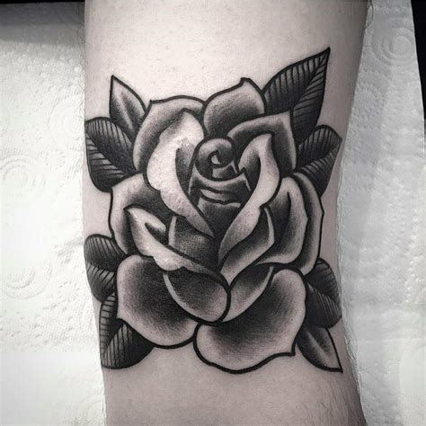 black work rose tattoo by simon tlc tattoo amp piercing
