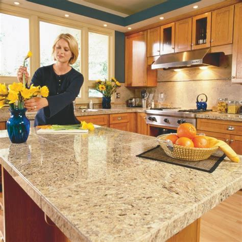 Granite Tile Kitchen Countertops Tile Kitchen Countertops Kitchen Ideas