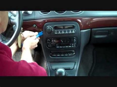 automobile air conditioning repair 1999 chrysler 300 instrument cluster chrysler 300m stereo removal 1999 2004 youtube